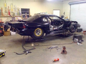 Brian Harrell's Outlaw 10.5 Mustang Nears Completion