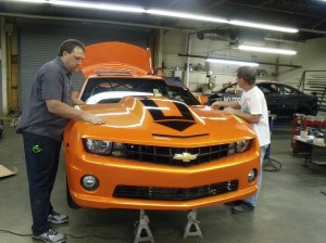 Baskin takes delivery of new 2010 Camaro from B&B Race Cars