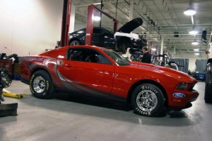 Ford Racing Releases Pictures of Red and White Cobra Jet Mustang