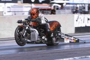 Browne Sets AHDRA Top Gas Record With Turbocharged Harley-Davidson