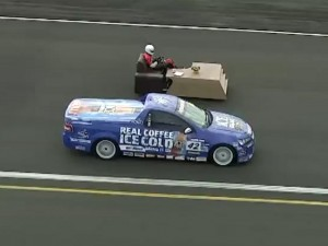Video: World's Fastest Couch Versus A 600 Horsepower Holden