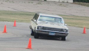 Video: 1967 Chevelle Wagon Goes Autocrossing