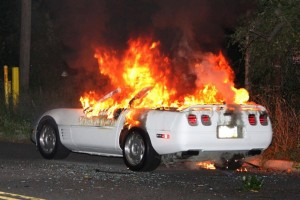 Wrecked Vette Wednesday: Roasted Marshmallow or Burning C4 Corvette?