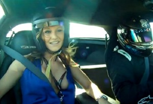 Video: Beautiful Babe Rides Along In A Drifting Corvette Z06