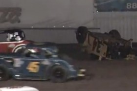 Video: Wild Legend Car Flip at El Paso Speedway Park on Friday