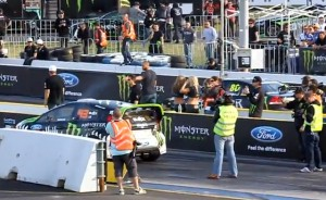 Video: Ken Block's Fiesta VS an Aussie V8 Supercar