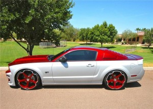 Former SEMA Mustang Hits Auction Block Dressed in Red