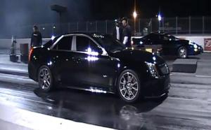 Video: '09 Caddy CTS-V Goes 9.85