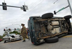 Firebird Overturns SUV After Running A Red Light