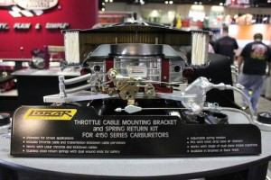PRI 2011: Lokar's 4150 Carb Throttle Bracket Looks Great at WOT